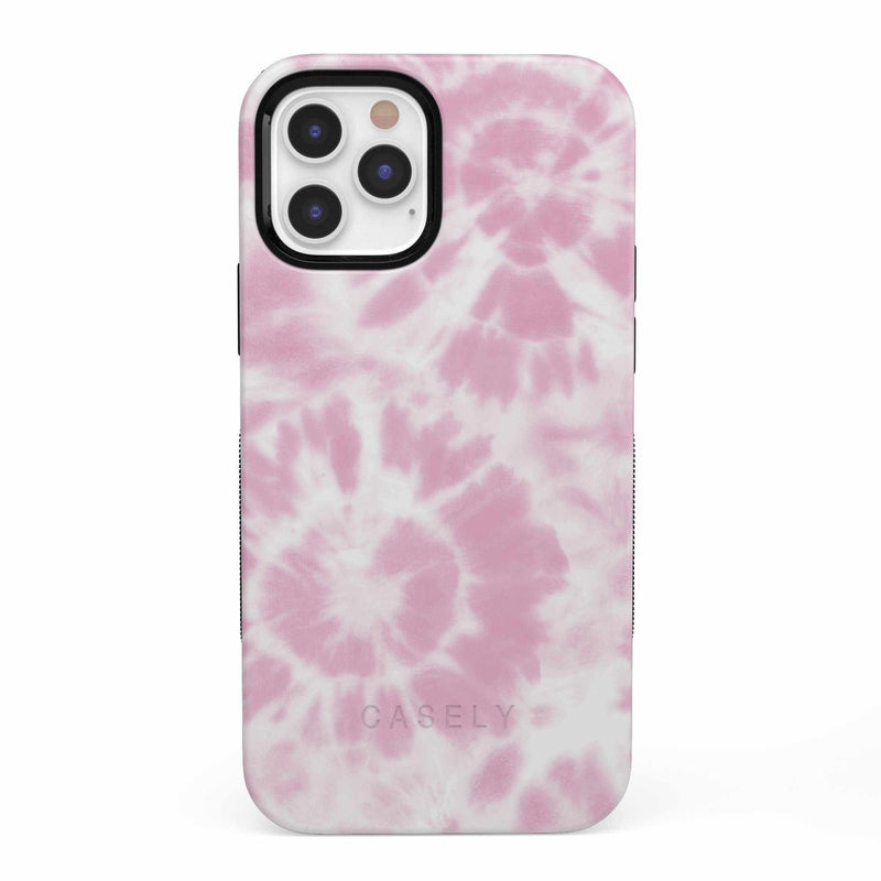 Down for Whatever | Light Pink Tie Dye Case iPhone Case get.casely Bold iPhone 12 Pro