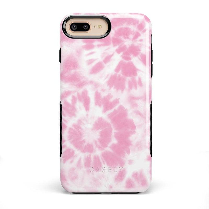 Down for Whatever | Light Pink Tie Dye Case iPhone Case get.casely Bold iPhone 8 Plus