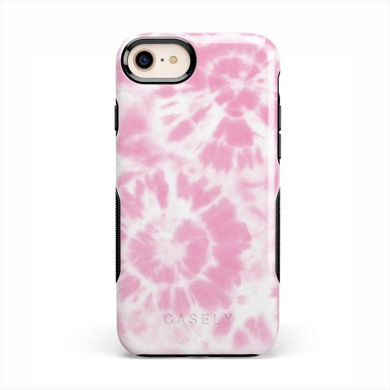 Down for Whatever | Light Pink Tie Dye Case iPhone Case get.casely Bold iPhone SE (2020)