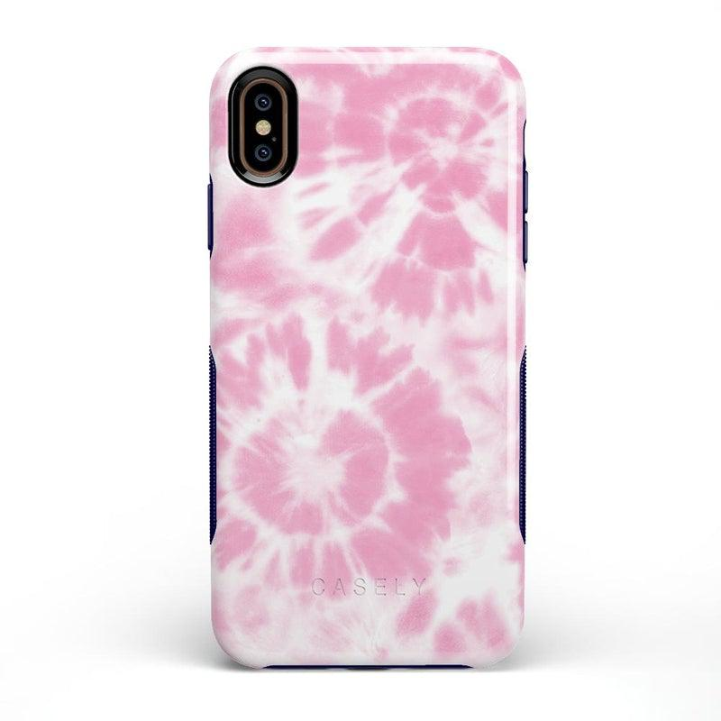 Down for Whatever | Light Pink Tie Dye Case iPhone Case get.casely Bold iPhone XS Max