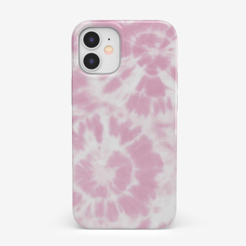 Down for Whatever | Light Pink Tie Dye Case iPhone Case get.casely Classic iPhone 12 Mini
