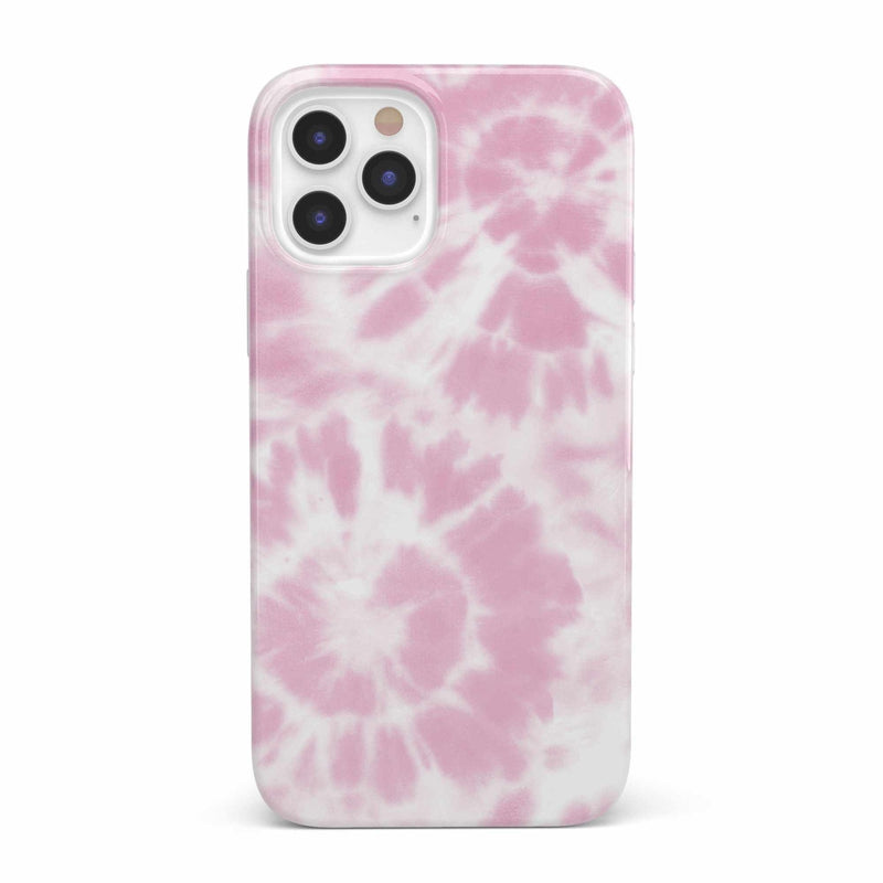 Down for Whatever | Light Pink Tie Dye Case iPhone Case get.casely Classic iPhone 12 Pro