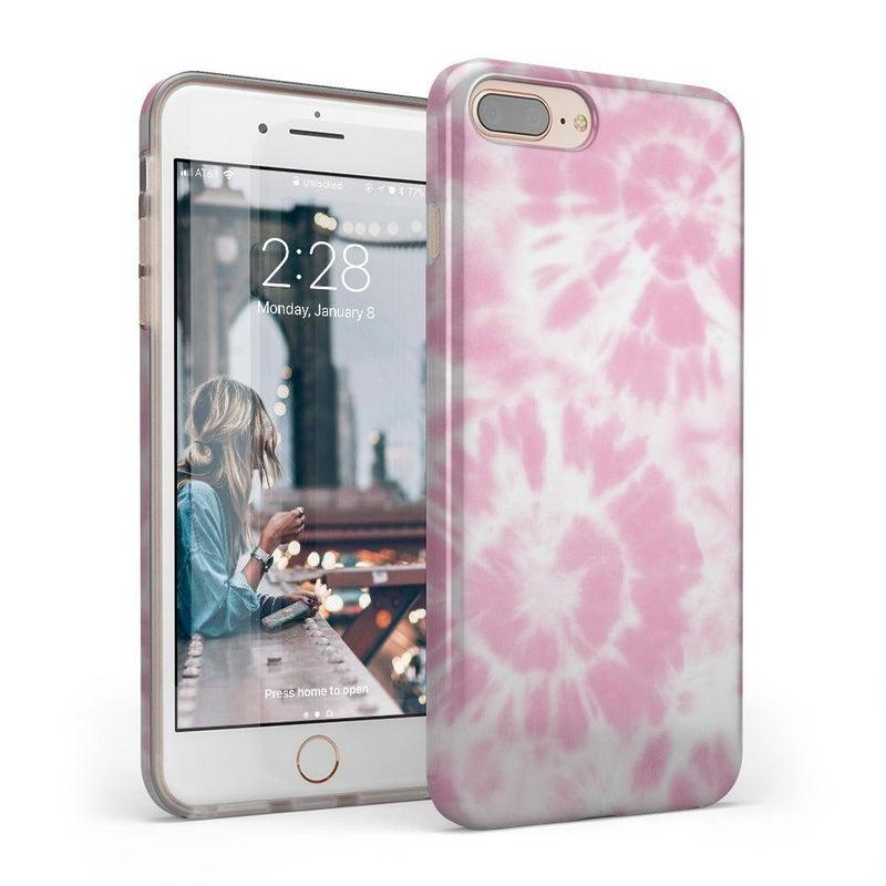 Down for Whatever | Light Pink Tie Dye Case iPhone Case get.casely Classic iPhone 8 Plus