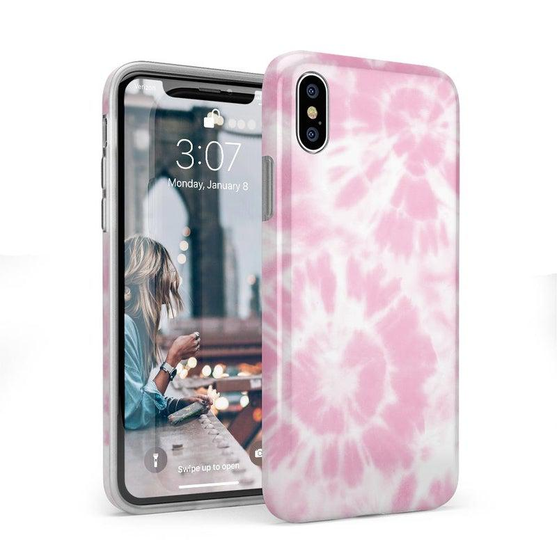 Down for Whatever | Light Pink Tie Dye Case iPhone Case get.casely Classic iPhone X / XS