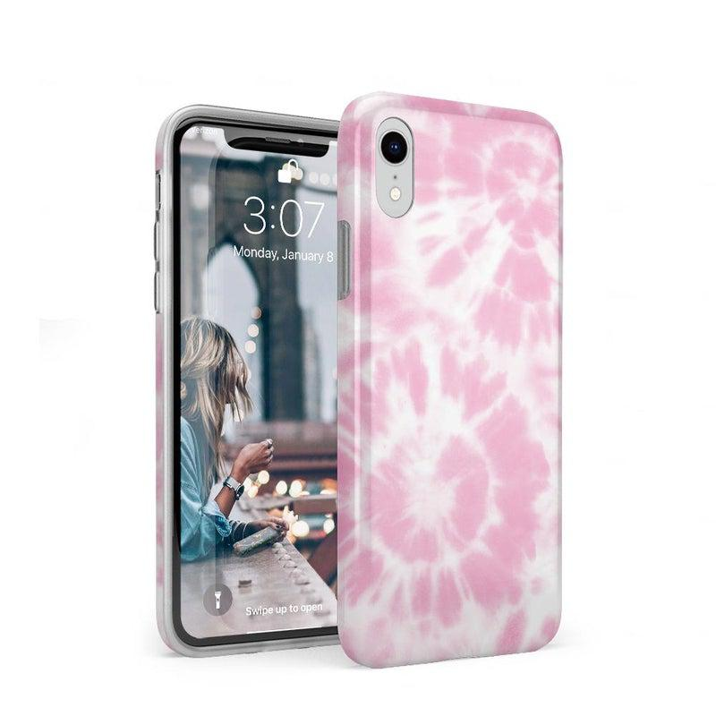 Down for Whatever | Light Pink Tie Dye Case iPhone Case get.casely Classic iPhone XR