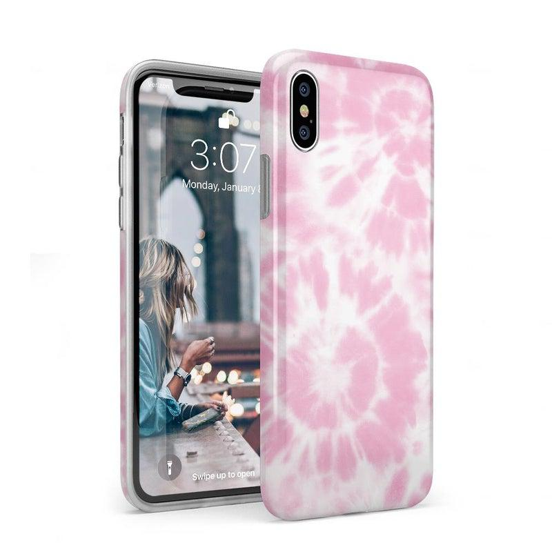 Down for Whatever | Light Pink Tie Dye Case iPhone Case get.casely Classic iPhone XS Max