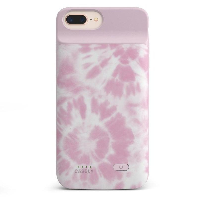Down for Whatever | Light Pink Tie Dye Case iPhone Case get.casely Power 2.0 iPhone 8 Plus