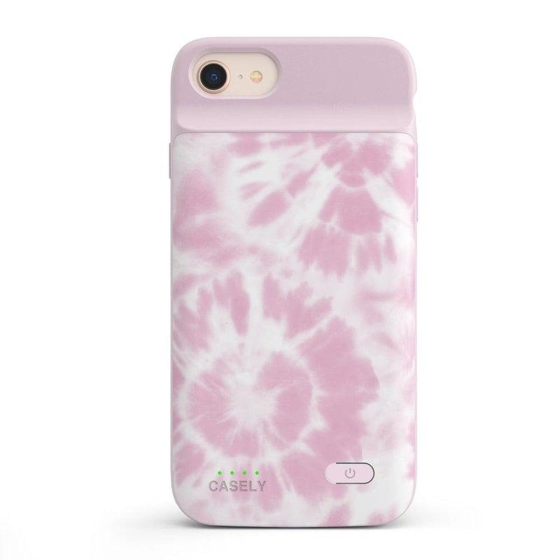 Down for Whatever | Light Pink Tie Dye Case iPhone Case get.casely Power 2.0 iPhone SE (2020)