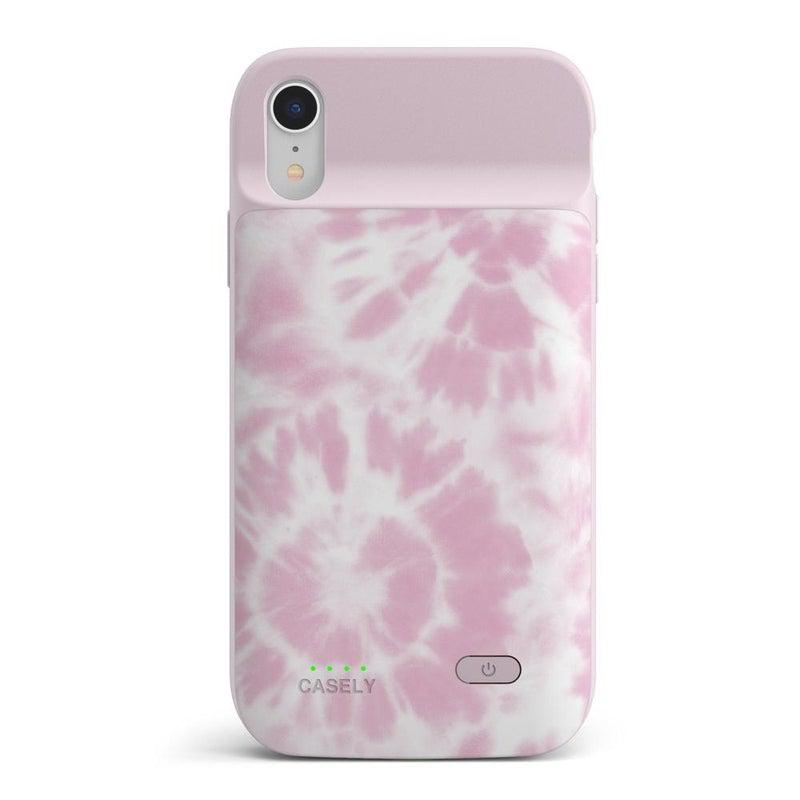 Down for Whatever | Light Pink Tie Dye Case iPhone Case get.casely Power 2.0 iPhone XR
