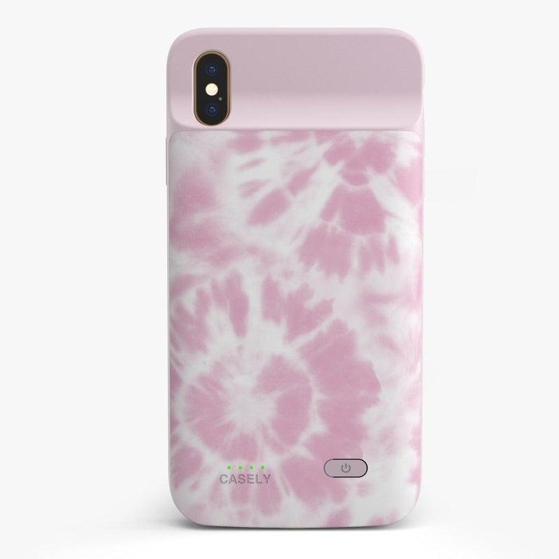 Down for Whatever | Light Pink Tie Dye Case iPhone Case get.casely Power 2.0 iPhone XS Max
