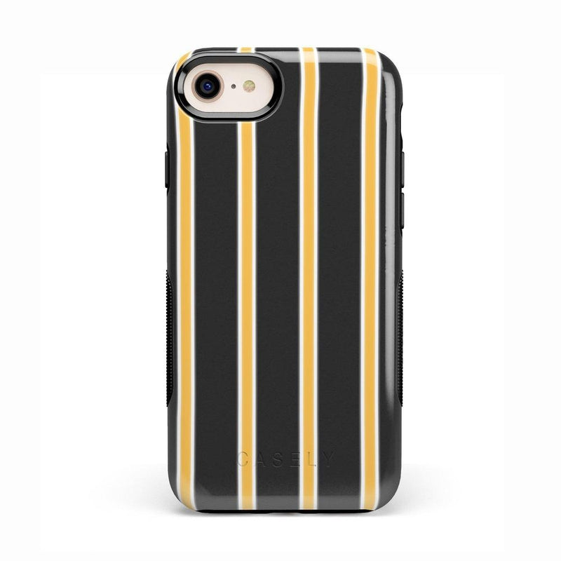 Fine Lines Mustard Yellow Pinstripe Case iPhone Case Get.Casely Bold iPhone 8