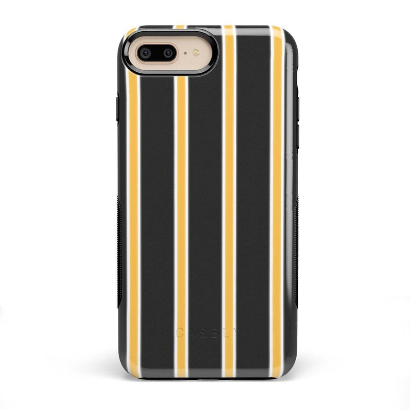 Fine Lines Mustard Yellow Pinstripe Case iPhone Case Get.Casely Bold iPhone 8 Plus
