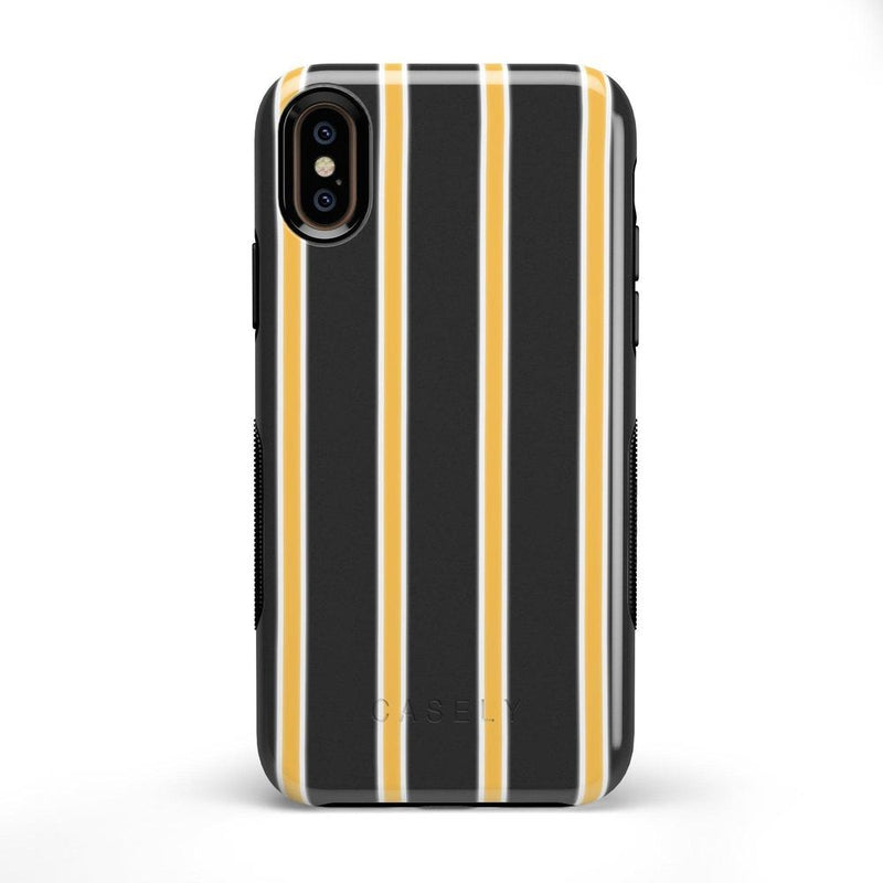 Fine Lines Mustard Yellow Pinstripe Case iPhone Case Get.Casely Bold iPhone X / XS