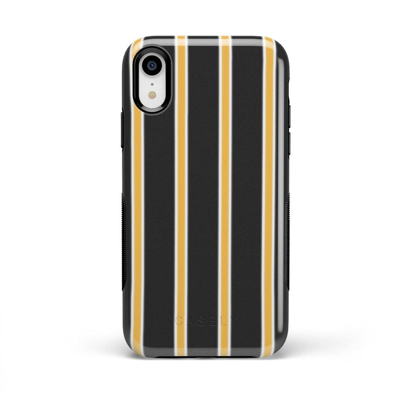 Fine Lines Mustard Yellow Pinstripe Case iPhone Case Get.Casely Bold iPhone XR