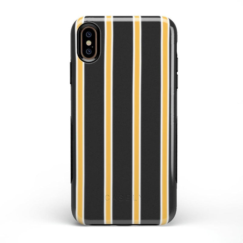 Fine Lines Mustard Yellow Pinstripe Case iPhone Case Get.Casely Bold iPhone XS Max