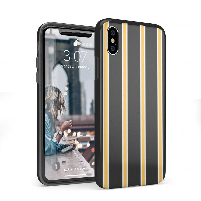 Fine Lines Mustard Yellow Pinstripe Case iPhone Case Get.Casely Classic iPhone X / XS
