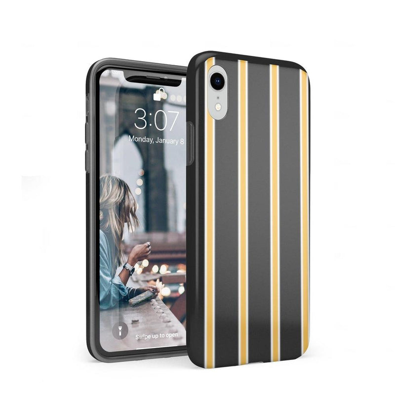 Fine Lines Mustard Yellow Pinstripe Case iPhone Case Get.Casely Classic iPhone XR