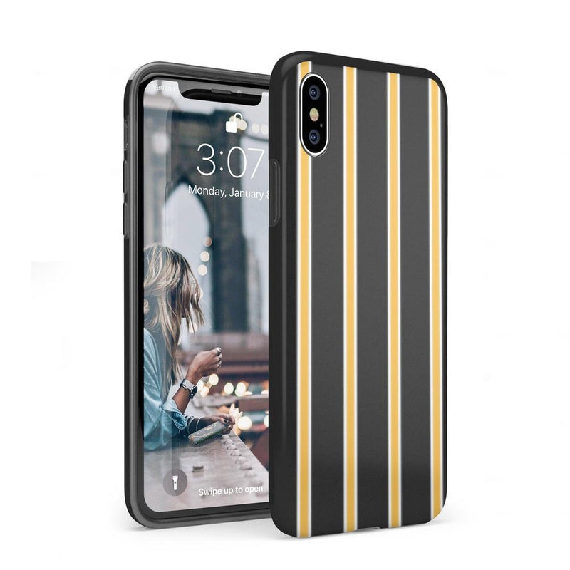Fine Lines Mustard Yellow Pinstripe Case iPhone Case Get.Casely Classic iPhone XS Max