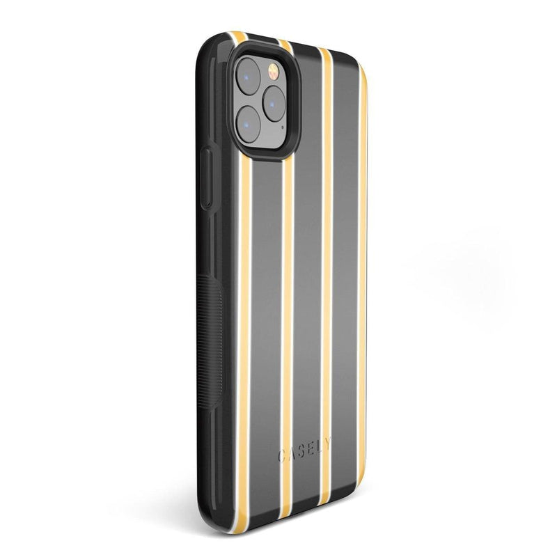 Fine Lines Mustard Yellow Pinstripe iPhone Case iPhone Case Get.Casely