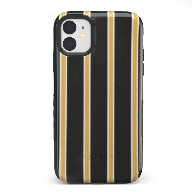 Fine Lines Mustard Yellow Pinstripe iPhone Case iPhone Case Get.Casely Bold iPhone 11