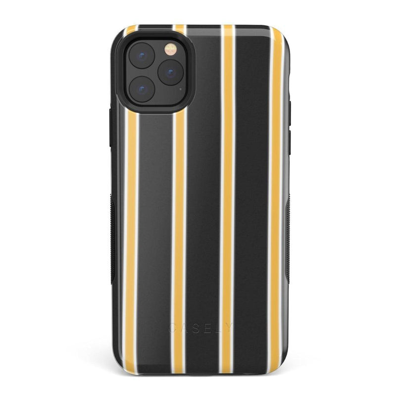 Fine Lines Mustard Yellow Pinstripe iPhone Case iPhone Case Get.Casely Bold iPhone 11 Pro