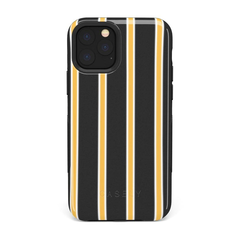 Fine Lines Mustard Yellow Pinstripe iPhone Case iPhone Case Get.Casely Bold iPhone 11 Pro Max