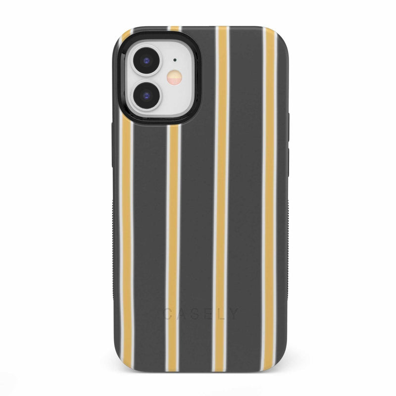 Fine Lines Mustard Yellow Pinstripe iPhone Case iPhone Case get.casely Bold iPhone 12 Mini
