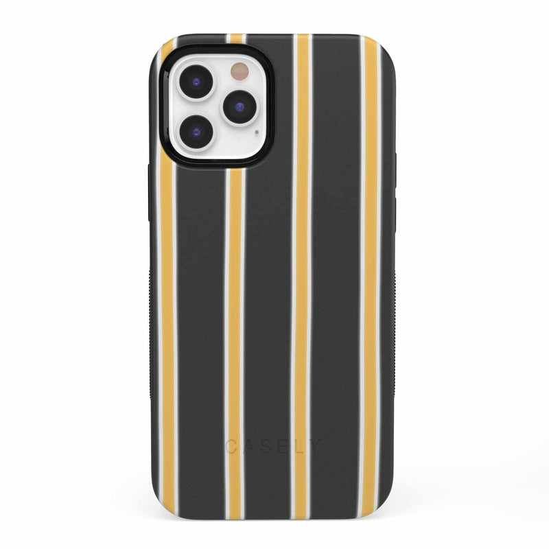 Fine Lines Mustard Yellow Pinstripe iPhone Case iPhone Case get.casely Bold iPhone 12 Pro