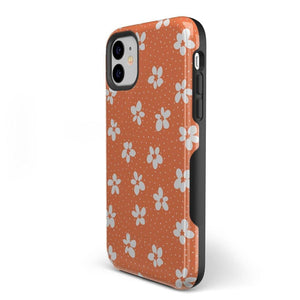 Flower My World | Burnt Orange Flower Case iPhone Case get.casely