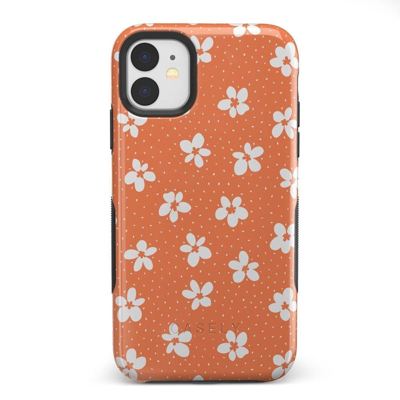 Flower My World | Burnt Orange Flower Case iPhone Case get.casely Bold iPhone 11