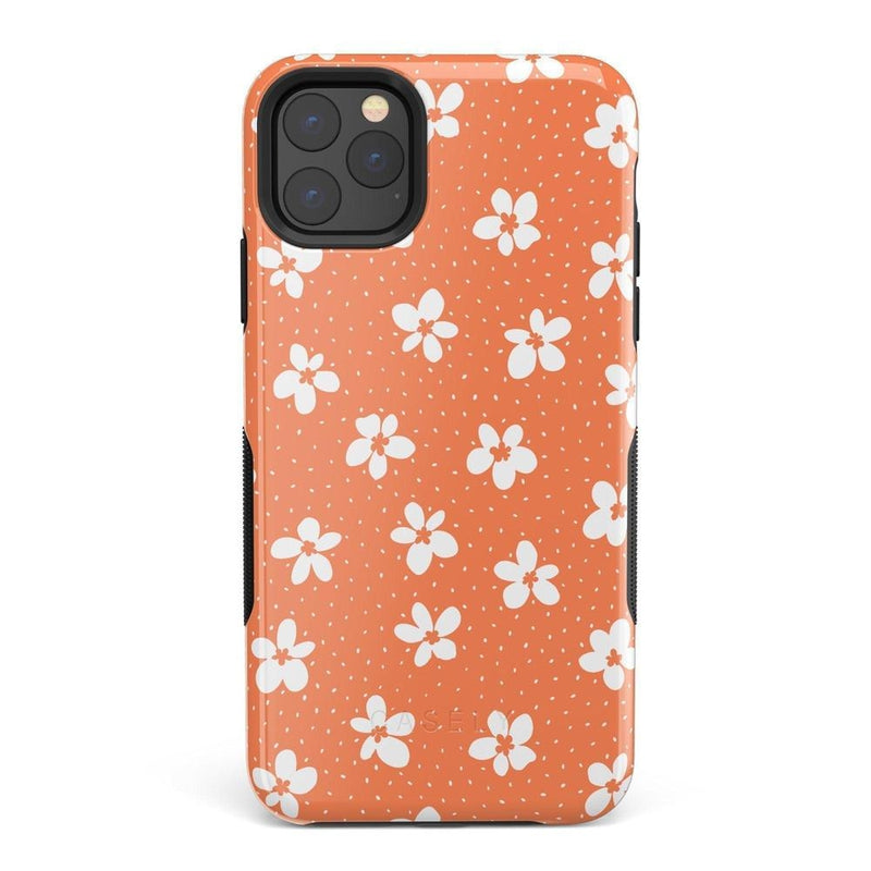 Flower My World | Burnt Orange Flower Case iPhone Case get.casely Bold iPhone 11 Pro