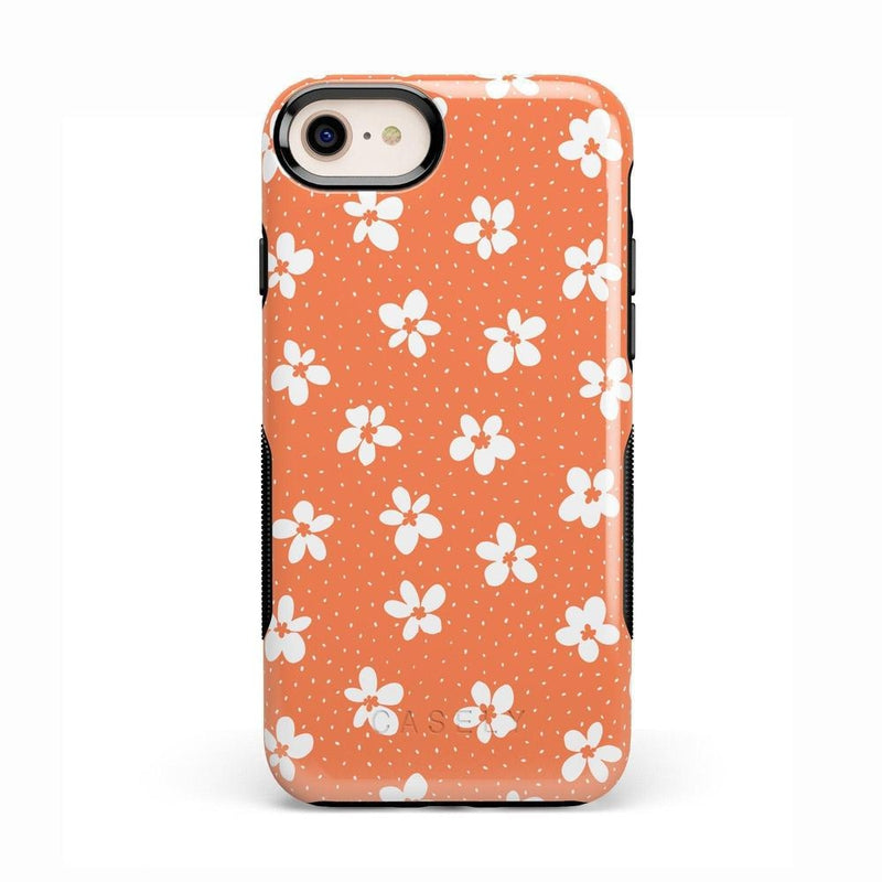Flower My World | Burnt Orange Flower Case iPhone Case get.casely Bold iPhone 8
