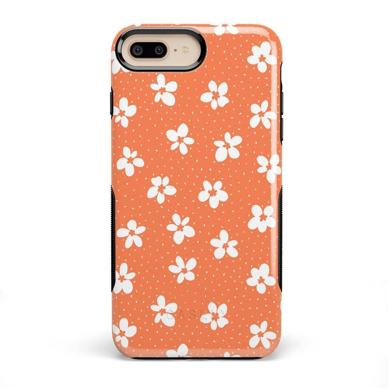 Flower My World | Burnt Orange Flower Case iPhone Case get.casely Bold iPhone 8 Plus