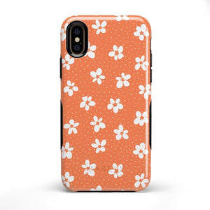 Flower My World | Burnt Orange Flower Case iPhone Case get.casely Bold iPhone X / XS