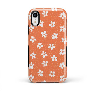 Flower My World | Burnt Orange Flower Case iPhone Case get.casely Bold iPhone XR