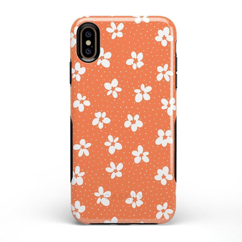 Flower My World | Burnt Orange Flower Case iPhone Case get.casely Bold iPhone XS Max