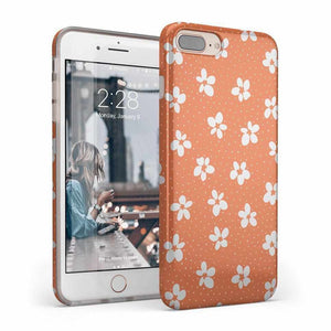 Flower My World | Burnt Orange Flower Case iPhone Case get.casely Classic iPhone 8 Plus