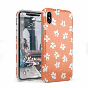 Flower My World | Burnt Orange Flower Case iPhone Case get.casely Classic iPhone X / XS