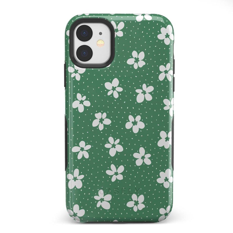 Flower My World | Jade Green Flower Case iPhone Case get.casely Bold iPhone 11