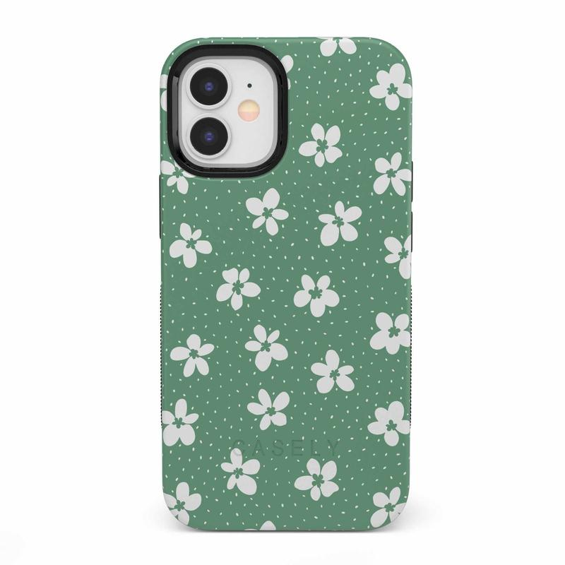 Flower My World | Jade Green Flower Case iPhone Case get.casely Bold iPhone 12 Mini