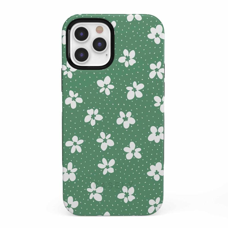 Flower My World | Jade Green Flower Case iPhone Case get.casely Bold iPhone 12 Pro