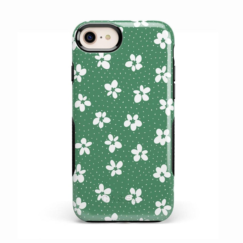 Flower My World | Jade Green Flower Case iPhone Case get.casely Bold iPhone 8