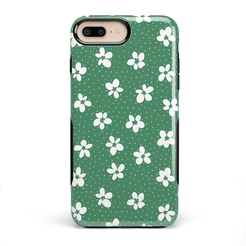 Flower My World | Jade Green Flower Case iPhone Case get.casely Bold iPhone 8 Plus