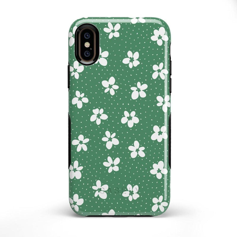 Flower My World | Jade Green Flower Case iPhone Case get.casely Bold iPhone X / XS