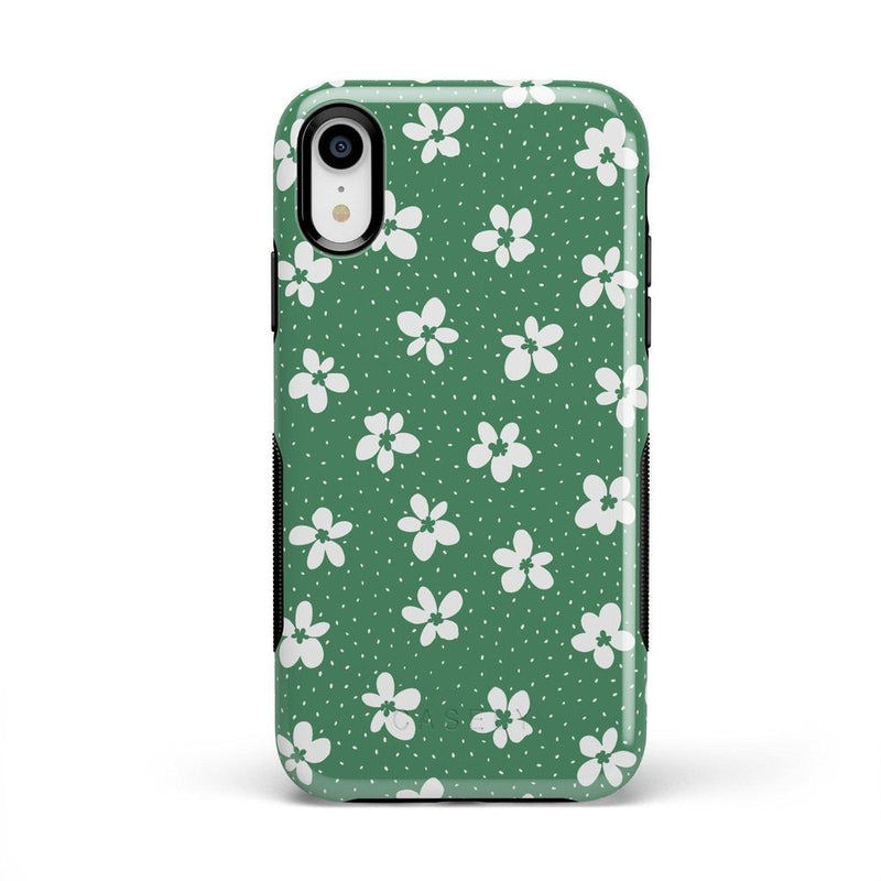 Flower My World | Jade Green Flower Case iPhone Case get.casely Bold iPhone XR