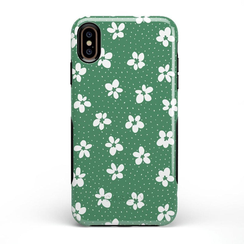Flower My World | Jade Green Flower Case iPhone Case get.casely Bold iPhone XS Max