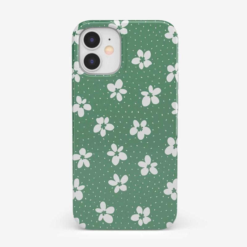 Flower My World | Jade Green Flower Case iPhone Case get.casely Classic iPhone 12