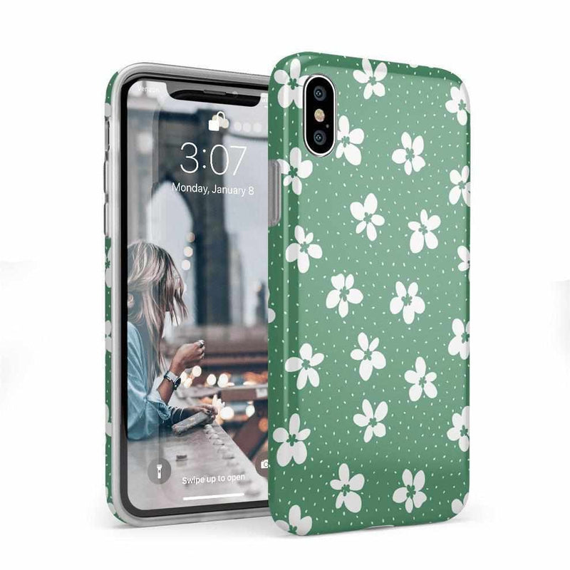 Flower My World | Jade Green Flower Case iPhone Case get.casely Classic iPhone X / XS