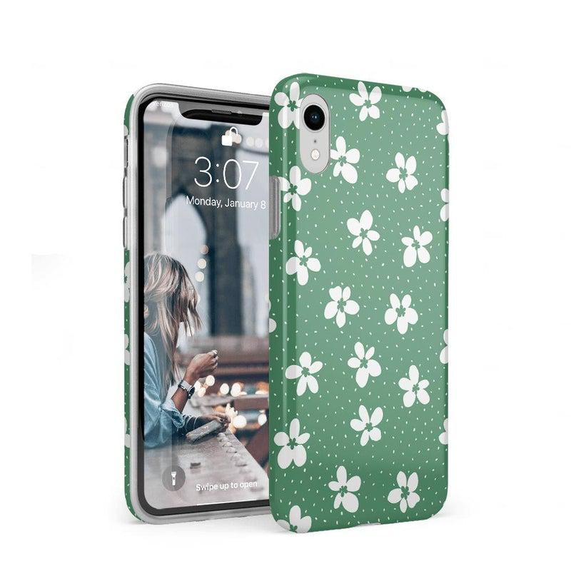 Flower My World | Jade Green Flower Case iPhone Case get.casely Classic iPhone XR