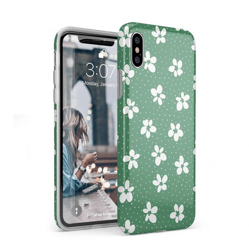 Flower My World | Jade Green Flower Case iPhone Case get.casely Classic iPhone XS Max